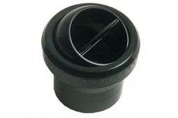 Lüftungsdüse, schwarz mit 2inch Adapter